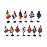 Dashboard flags - Set of 1 flag + foot - Different countries