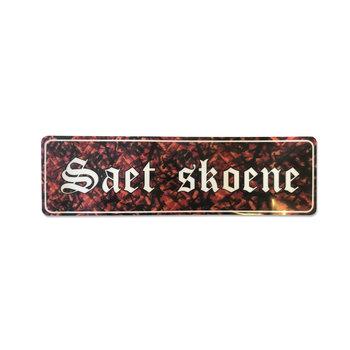 Sticker Saet Skoene - red