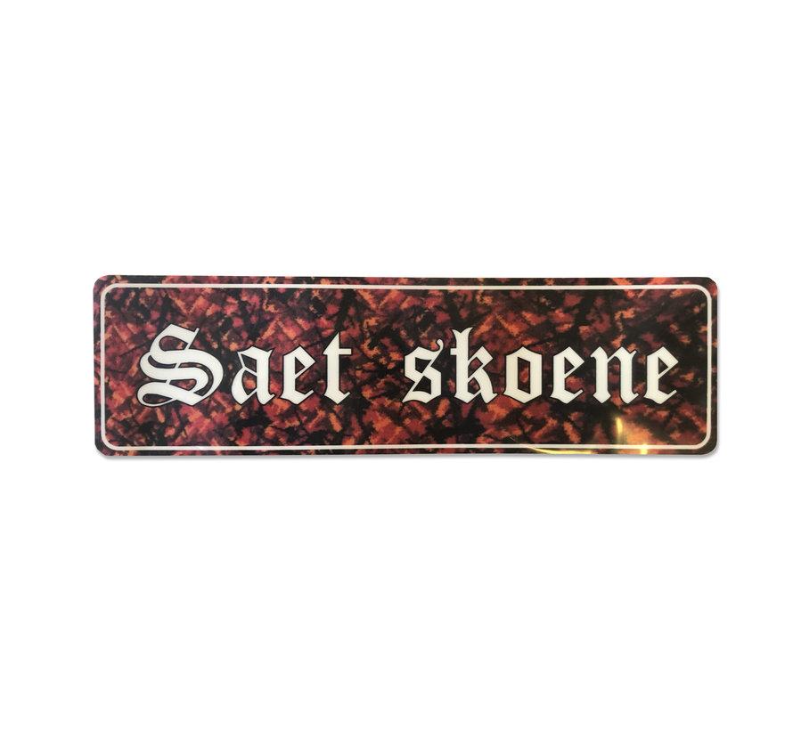 Sticker Saet Skoene - rood