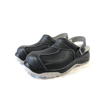 Euroroutier Safety slipper with steel nose - Premium black