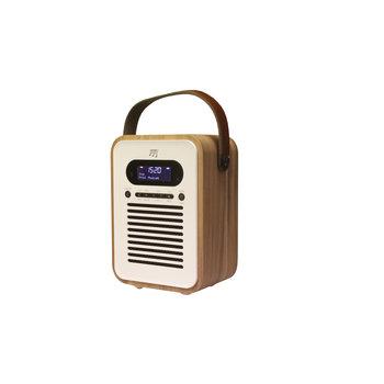 Stereoboomm - Woodbox-Plus - DAB(+) radio + draadloze speaker
