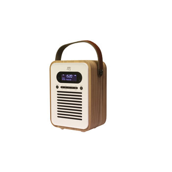 Stereoboomm Woodbox-Plus - Digital radio + wireless speaker