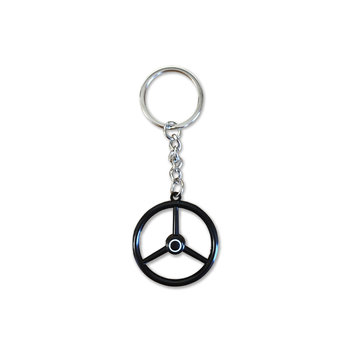 Keychain Oldskool Steering Wheel - Black