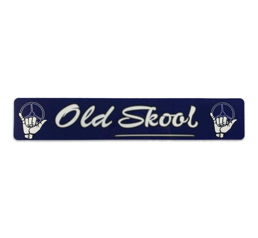 Fun plate Old Skool - blue