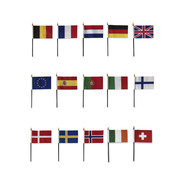 Dashboard flags - Single flag - Different countries