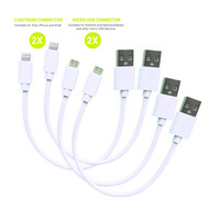 Short charging cable set