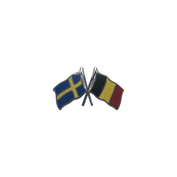Pin flag Sweden-Belgium