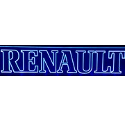 Led plate Renault blue