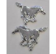 Chromen decoratie paard