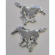 Chrome deco horses