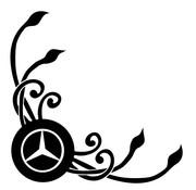 Raamdeco bloem Mercedes 2 st