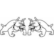 Aufkleber Bulldog links + rechts