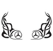 Fenster Tribal Mercedes 2 Stück