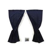 Vorhang-Set luxus 85 cm verschiedenen Farbkombinationen.