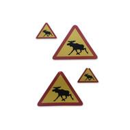 Sticker Moose Warning set