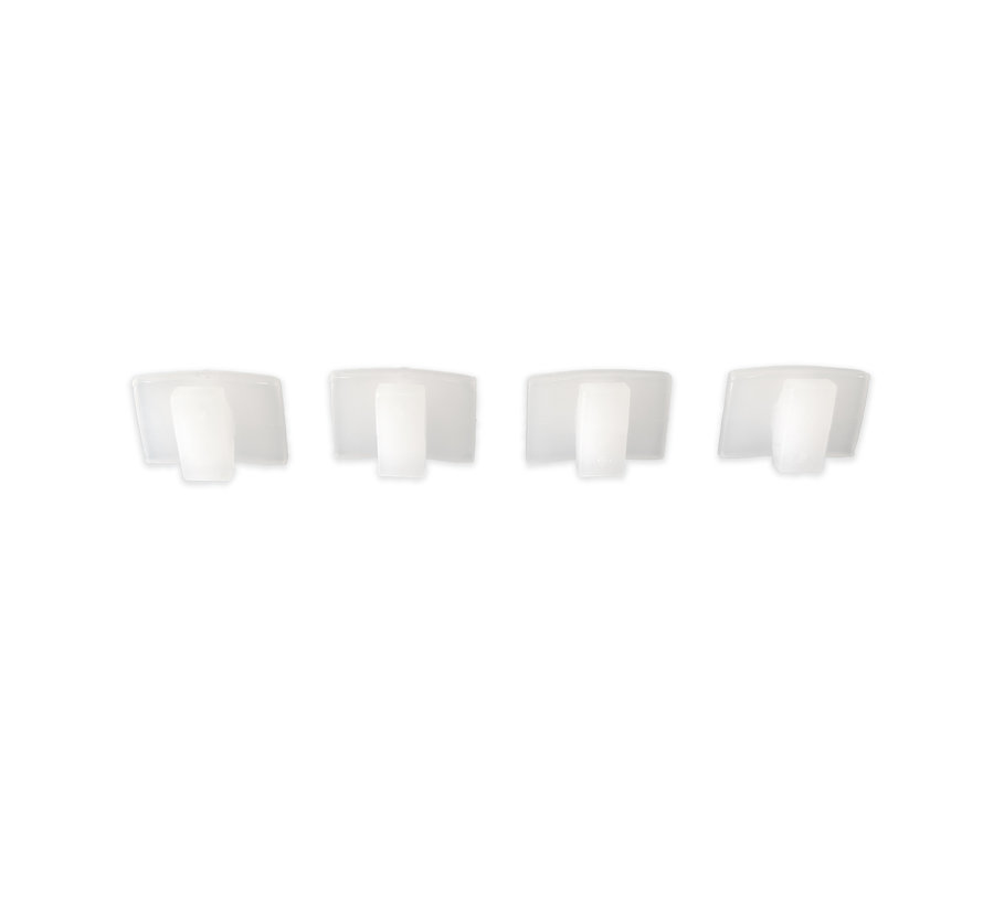 Gordijnstoppers plastic - 4 stuks