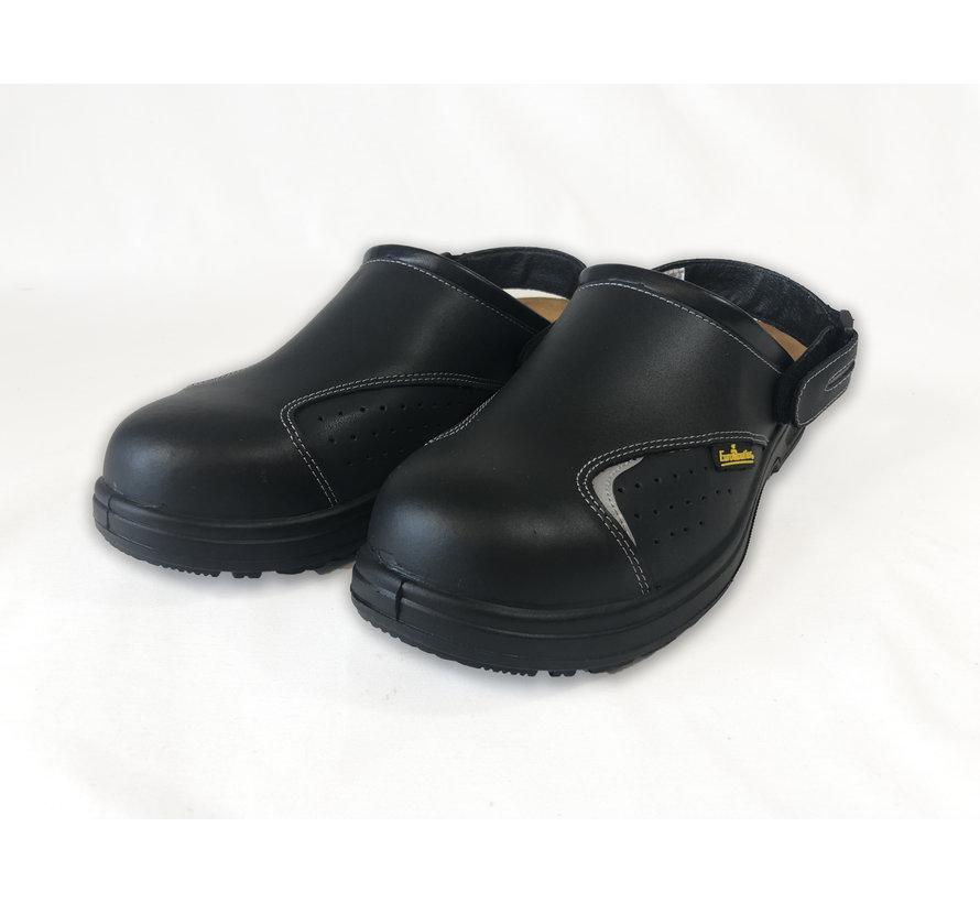 Safety slipper with steel nose - Basic black