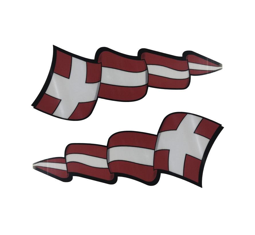 Pennant sticker set Denmark