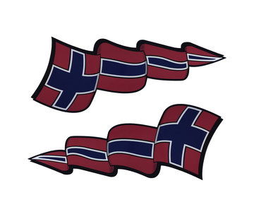 Pennant sticker set Norway