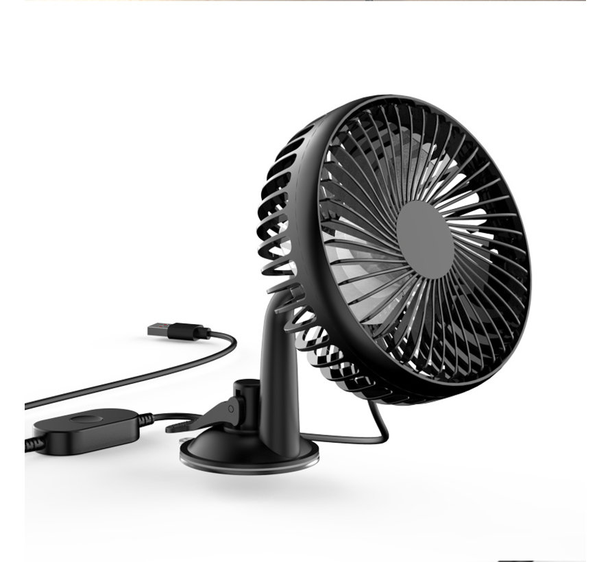 Universal USB fan with suction cup
