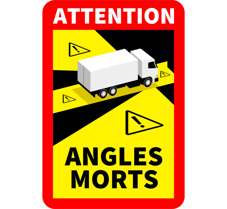 Magnetic sticker Angles Morts