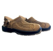 Safety slipper - Leather brown