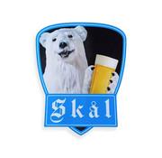 Sticker polar bear Skål