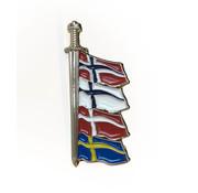 Pin viking zwaard Scandinavië