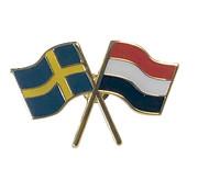 Pin flag Sweden-the Netherlands
