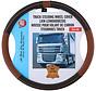 Genuine leather steering wheel cover 44-46 / Brown-black