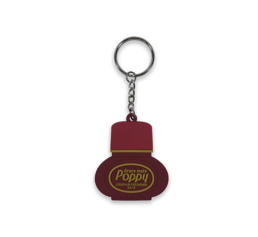 Keychain rubber Poppy Grace Mate - Cherry