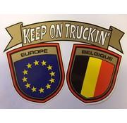 Sticker Europa - Belgique