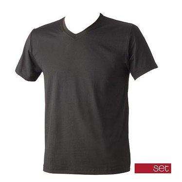 SET T-Shirt basic V hals