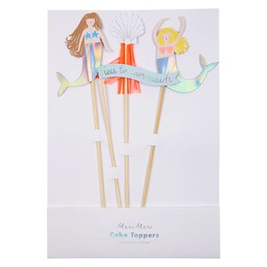 Meri Meri Set caketoppers Mermaid