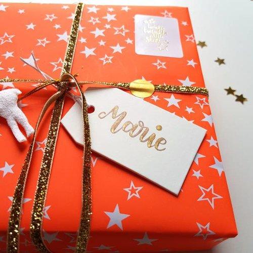 Gepersonaliseerd cadeaulabel