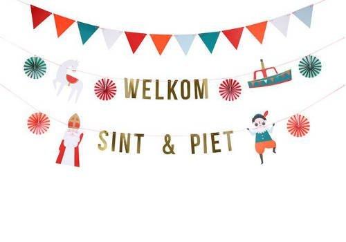 Sinterklaas inpakpapier en decoratie