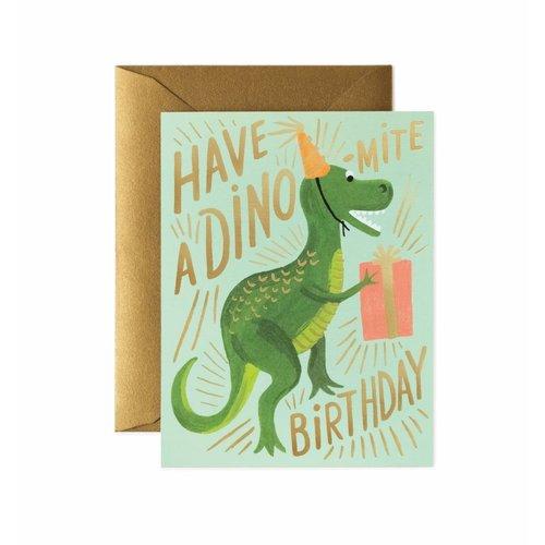 Rifle Paper Co. Verjaardagskaart Dino Mite