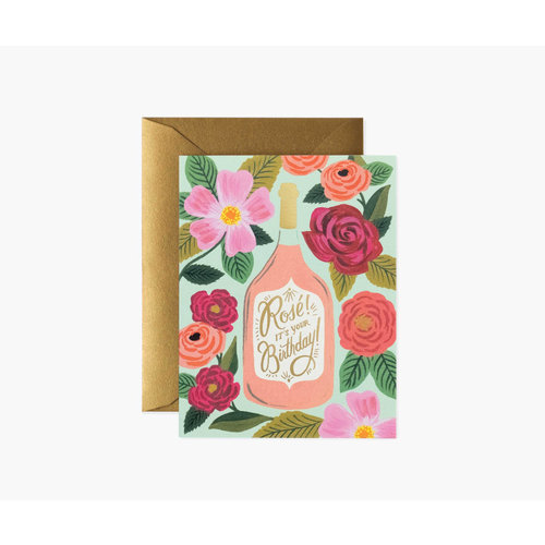Rifle Paper Co. Verjaardagskaart Rosé Birthday
