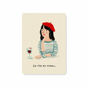 Illu-ster Ansichtkaart La Vie en Rose