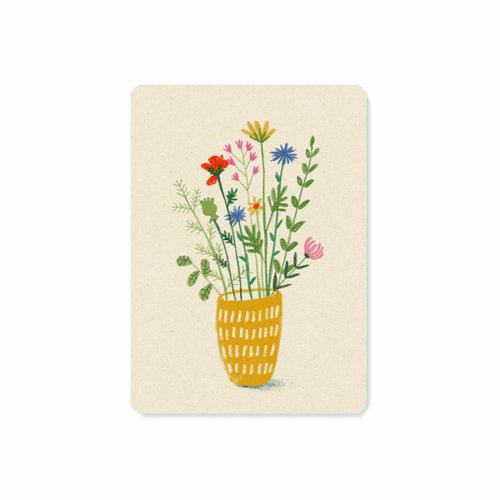 Illu-ster Ansichtkaart Wild Flowers