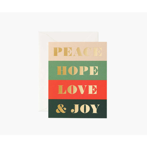 Rifle Paper Co. Kerstkaart  Peace & Joy