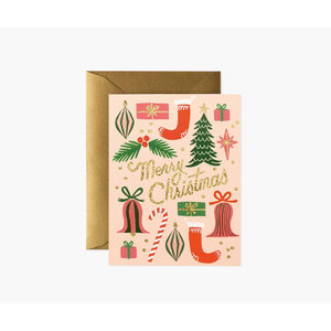 Rifle Paper Co. Kerstkaart  Deck the Halls