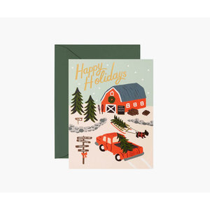 Rifle Paper Co. Kerstkaart  Holiday Tree Farm