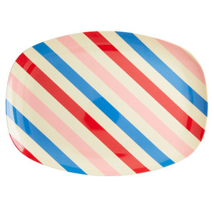 Rice Melamine bord Candy Stripes