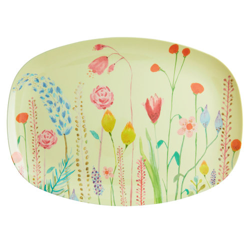 Rice Melamine bord Summer Flowers