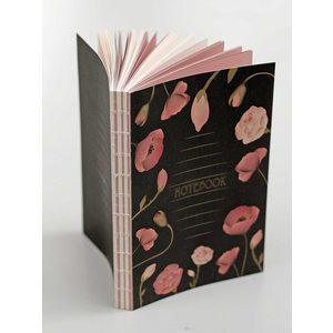 ViSSEVASSE Notitieboek Black Flowers