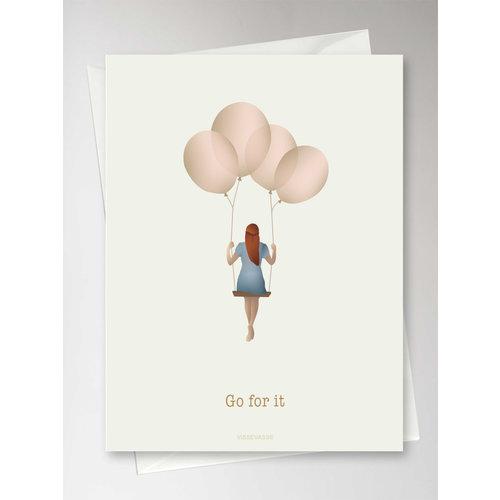 ViSSEVASSE Wenskaart Balloon Dream