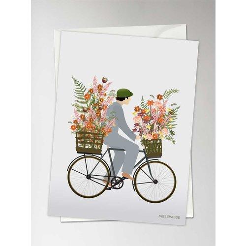 ViSSEVASSE Wenskaart Bicycle Flowers