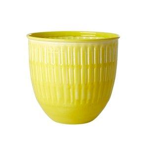 Rice Bloempot Yellow
