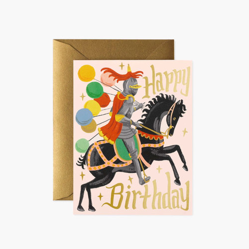 Rifle Paper Co. Wenskaart Birthday Knight